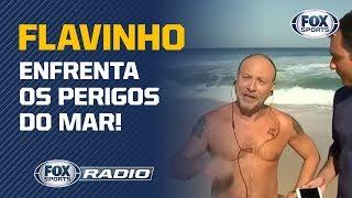 O FLAVINHO PAGOU A APOSTA! Depois da aposta com Benja sobre Brasil x Argentina, teve banho de mar!