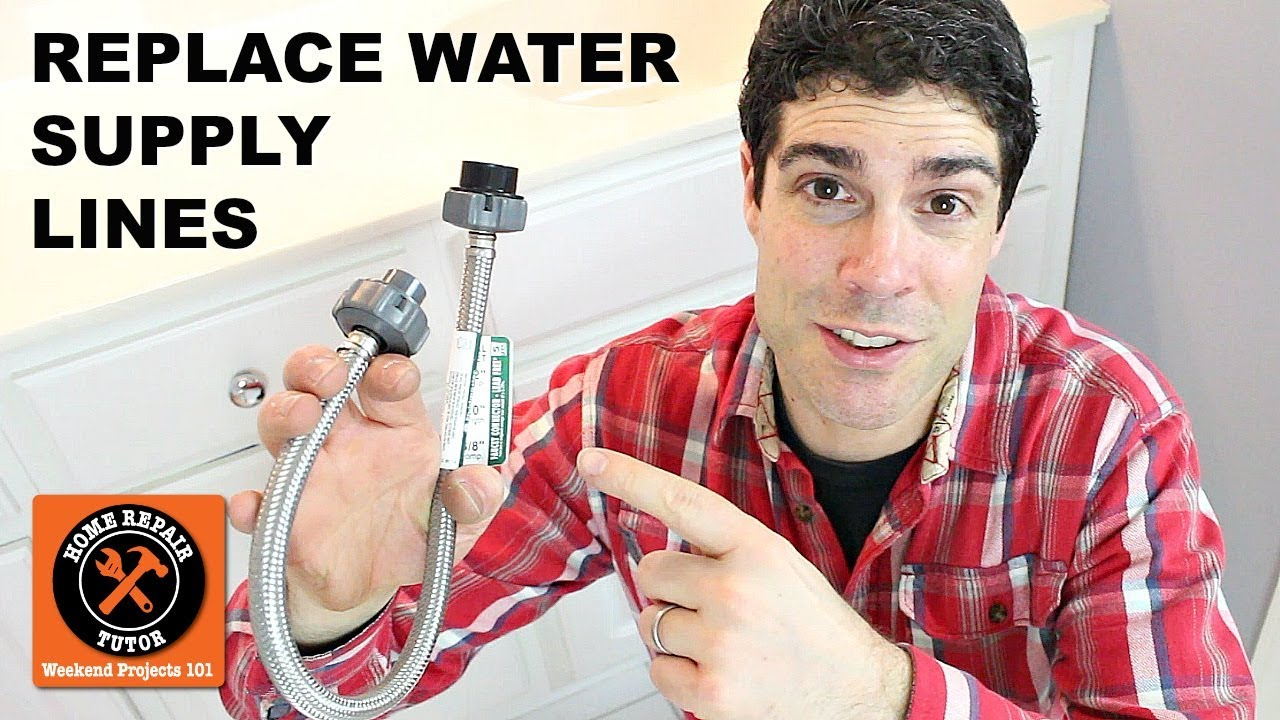 replace old bathroom water supply lines without leaks by home repair tutor