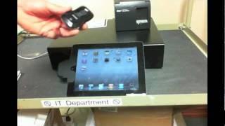 Shopkeep app on the ipad - realtime bluetooth barcode scanning via motorola / symbol cs3070 wireless receipt printing star tsp100 lan printer wireles...
