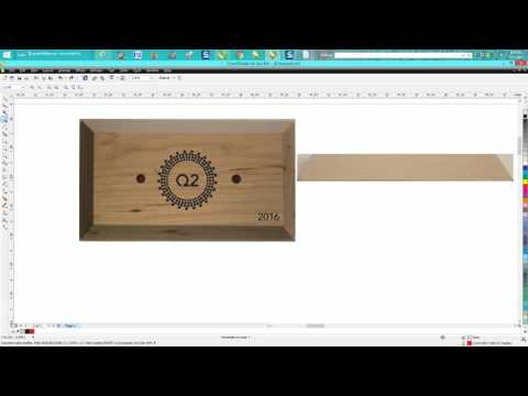 Corel Draw Tips & Tricks Jig for Plaque with a angle on edge and engrave on that edge Part 2