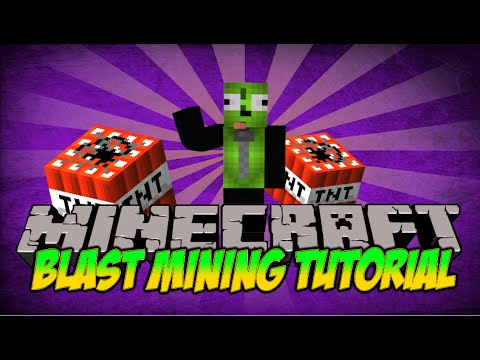Minecraft MCMMO Blast Mining Tutorial