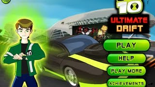 Play Ben 10 Ultimate Alien Drift Car Free Online Games