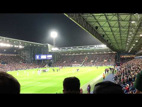 West Brom fans sing The Liquidator v Villa