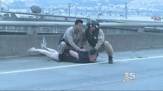 KPIX 5 Gets Close-Up View Of Highway 101 Rescue In San Francisco