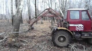 самодельный трактор -зверь машина