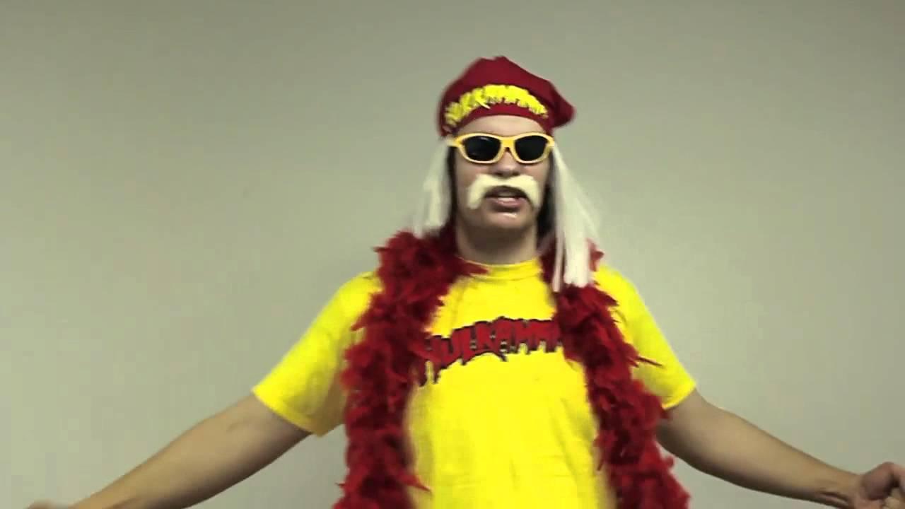 Hulk Hogan Hulkamania Wrestling Maniac Costume Wig