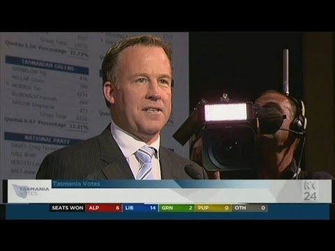 Tasmanians 'voted for change': Will Hodgman