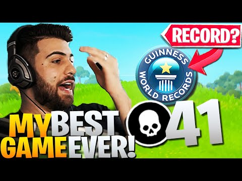 We Dropped *41 ELIMS* IN A PRO TOURNAMENT GAME! (World Record?) - Fortnite Battle Royale