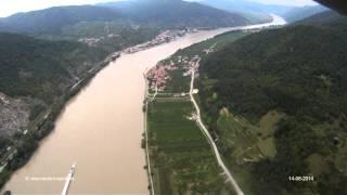 Helikopterflug Donau - Wachau
