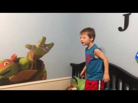 Jude's Ninja Turtle Bedroom, 5th Birthday 10/01/16