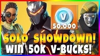 SOLO SHOWDOWN LTM! Concurrencez et gagnez 50 000 V-Bucks! Fortnite Battle Royale Nouveau mode de jeu
