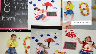 8th month photoshoot ideas at home /3 easy baby photography ideas