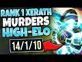 #1 XERATH WORLD SMURFING IN CHALLENGER! *PERFECT GAMEPLAY* - League of Legends