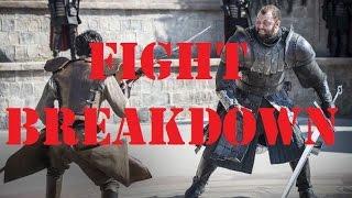 Fight breakdown — The Mountain vs Oberyn Martell