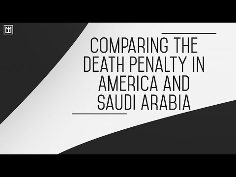 Comparing the Death Penalty in America and Saudi Arabia | Abul Abbas Moosa Richardson
