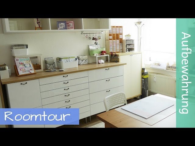 Craft Room Tour Kreativwerkstatt - Stampin' Up! - YouTube