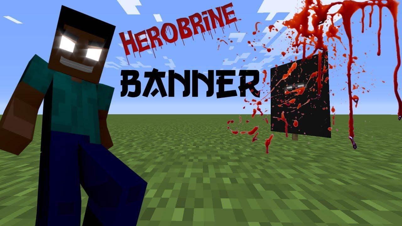 minecraft banner tutorial herobrine
