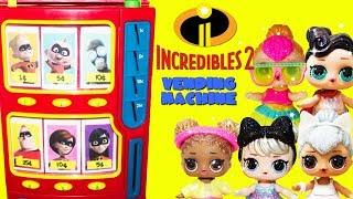 INCREDIBLES 2 Vending Machine LOL Surprise Glam Glitters Toy Surprises