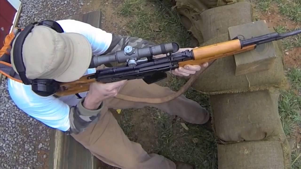 Romanian PSL-54C 7 62x54R Rifle Romak 3  GoPro Third Person Shooter   DoSomeLaundry
