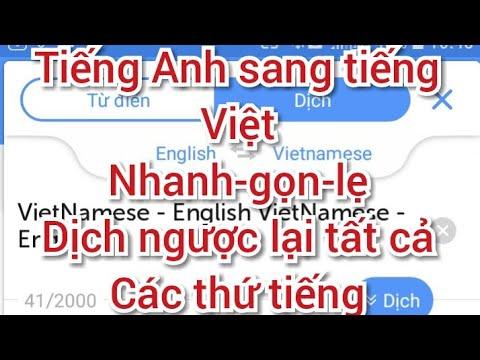 Cách tải ứng dụng dịch tiếng Anh sang tiếng Việt và ngược lại (English to VietNamese)