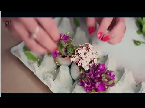 C mo hacer un centro de mesa con huevos y flores para - Centros de mesa de pascua ...