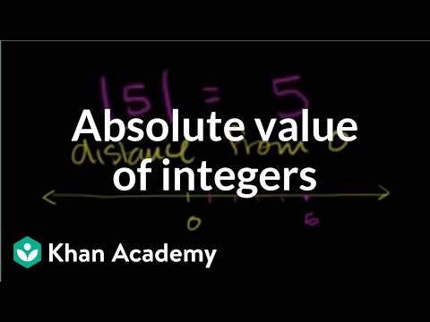 Absolute value of integers | Negative numbers and absolute value | Pre-Algebra | Khan Academy
