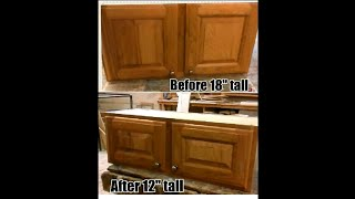 From 18'' to 12'' : cutting down a kitchen cabinet and doors