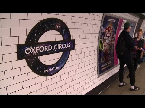 London launches long-awaited 'Night Tube' services
