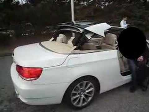 Bmw E93 335 Convertible Roof Action Youtube