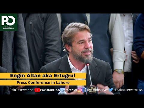 Engin Altan aka Ertugrul Press Conference in Lahore  | Pakistan Observer