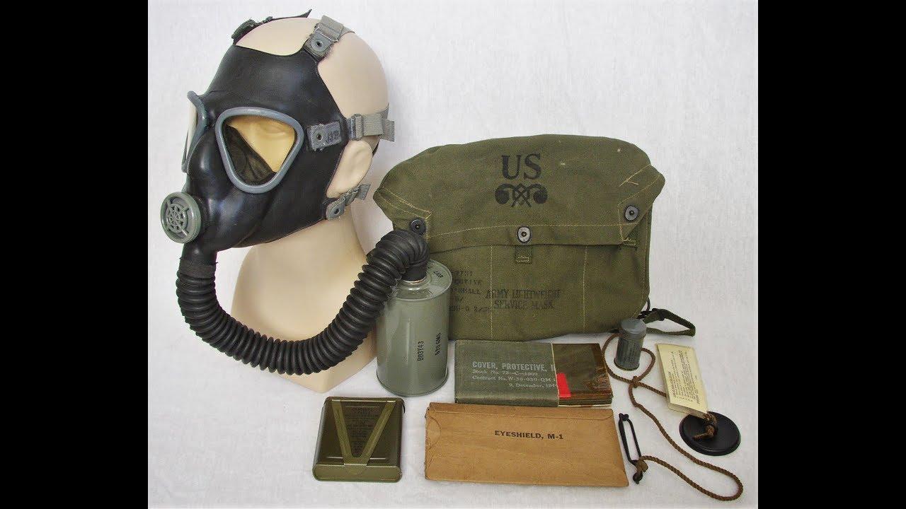 U.S. M3-10A1-6 Lightweight Service Mask (WWII American Gas ...