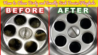 How to Clean Dirty and Smelly Kitchen Sink Drain | Cleaning Tips