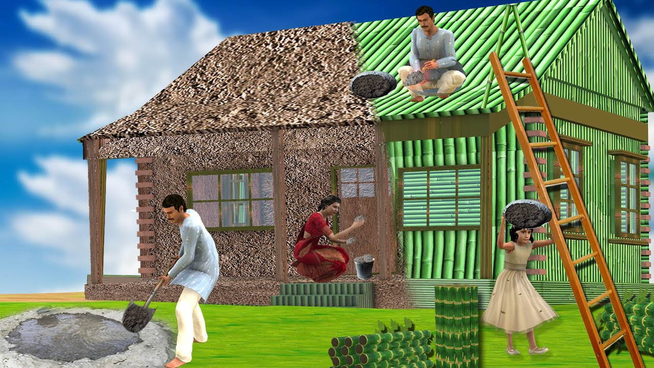 गरीब जादुई बांस का घर Magical Bamboo House Hindi Kahaniya  हिंदी कहानियां Funny Hindi Comedy Video