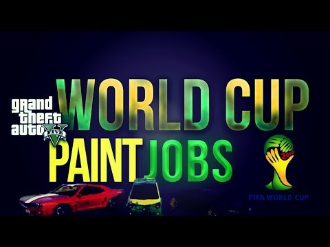 GTA 5 Online - Paint Jobs! FIFA World Cup 2014 Brazil, Italy, England + More! (GTA 5 Paint Jobs)