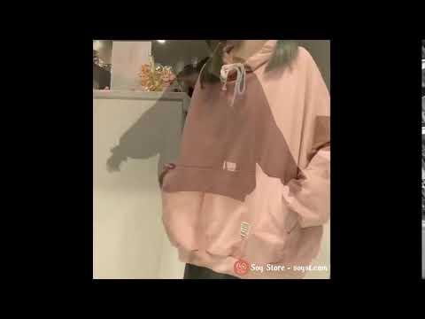 Áo Khoác Hoodie Sweater Nữ Có Mũ Vải Nỉ Thu đông Ulzzang Hàn Quốc Hàng QC Loại 1 CL1089
