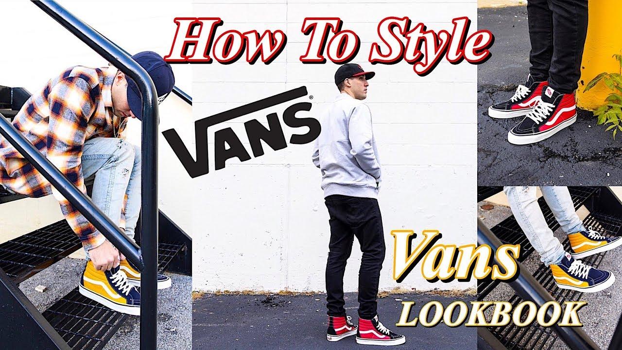 be5e688018 HOW TO STYLE VANS SNEAKERS - VANS LOOKBOOK - SK8 HI - OLD SKOOL ...