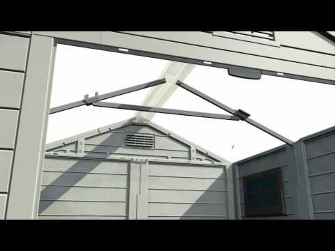 How To Horizon Plastic Sheds Keter Youtube