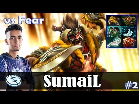 SumaiL - Beastmaster Offlane | vs Fear (Dragon Knight) | Dota 2 Pro MMR Gameplay #2