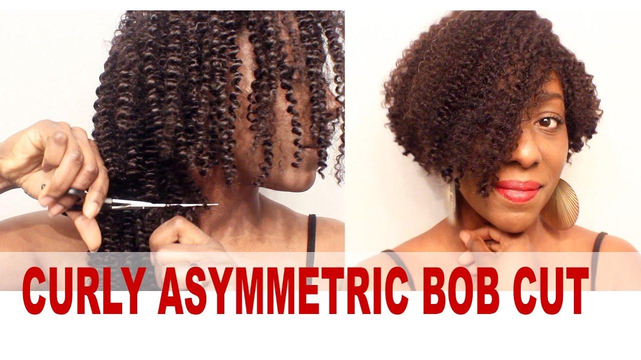 Wig Tutorial The Kinky Curly Asymmetric Bob Cut SUNNYQUEENHAIR