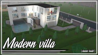 Roblox | BloxBurg: Villa moderna Speedbuild