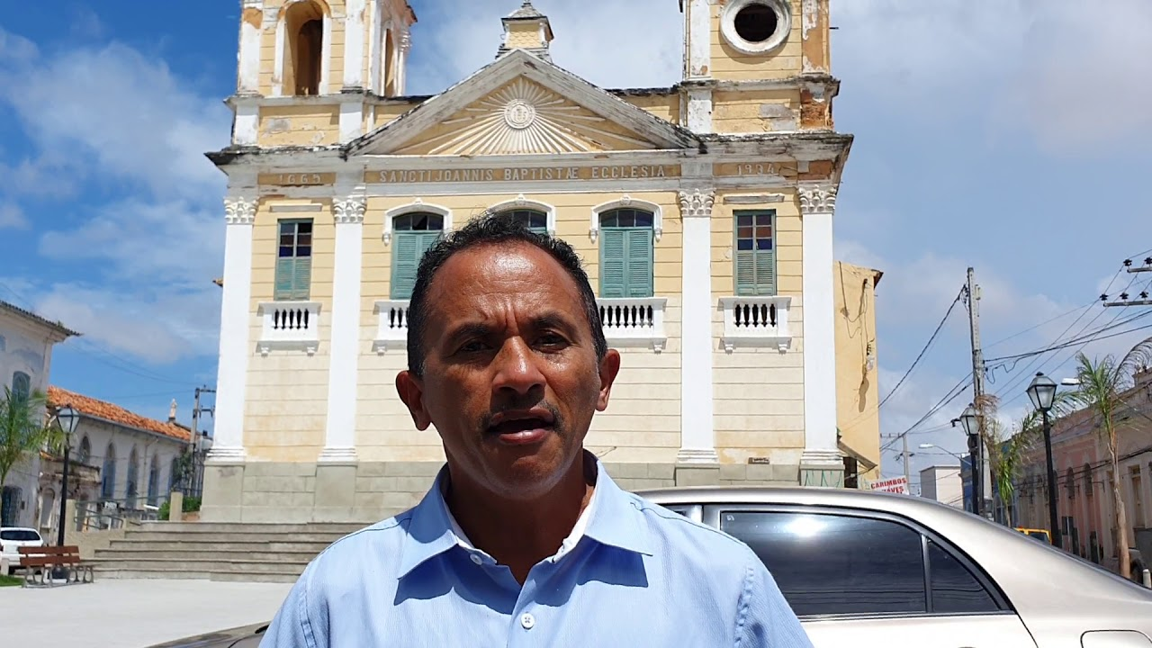 Manoel Gomes Caneta Azul mostra a igreja São João fundada em 1665 São Luís Maranhão Brasil 🇧🇷🇧🇷🇧🇷