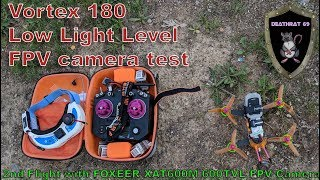 ImmersionRC Vortex 180 | Low-Light Flight Test 2 with Foxeer Foxeer XAT600M HS1177 FPV Camera