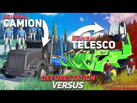 NOUVEAU Camion & Télescopique !   Déforestation Versus #04 (Farming Simulator 19)