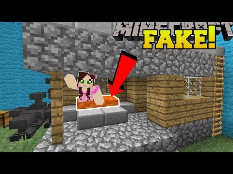 Minecraft: THIS HOUSE IS FAKE!!! - Find The Buton Minecraft Edition - Custom Map