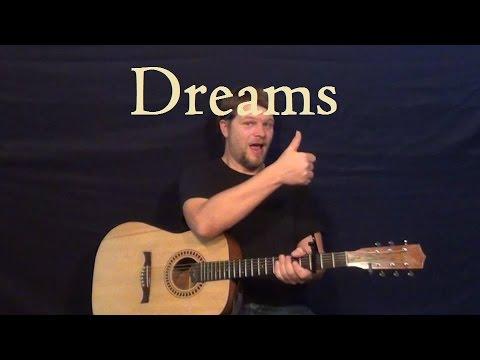 Dreams (FLEETWOOD MAC) Easy Strum Guitar Lesson - Fmaj7 - G - Am - How to Play