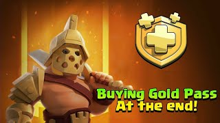 🤑Buying Gold Pass and Collecting All rewards in Just 1 min (clash of clans)