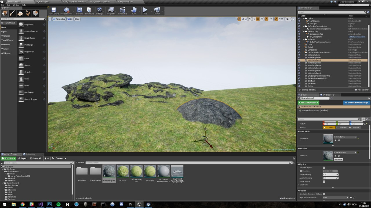 Distance Field material blend - Unreal Engine