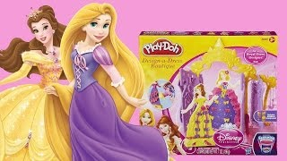Play-Doh Disney Princess Design-a-Dress Boutique Set including Belle and Rapunzel!