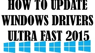 How to Update windows PC drivers Ultrafast for free !!