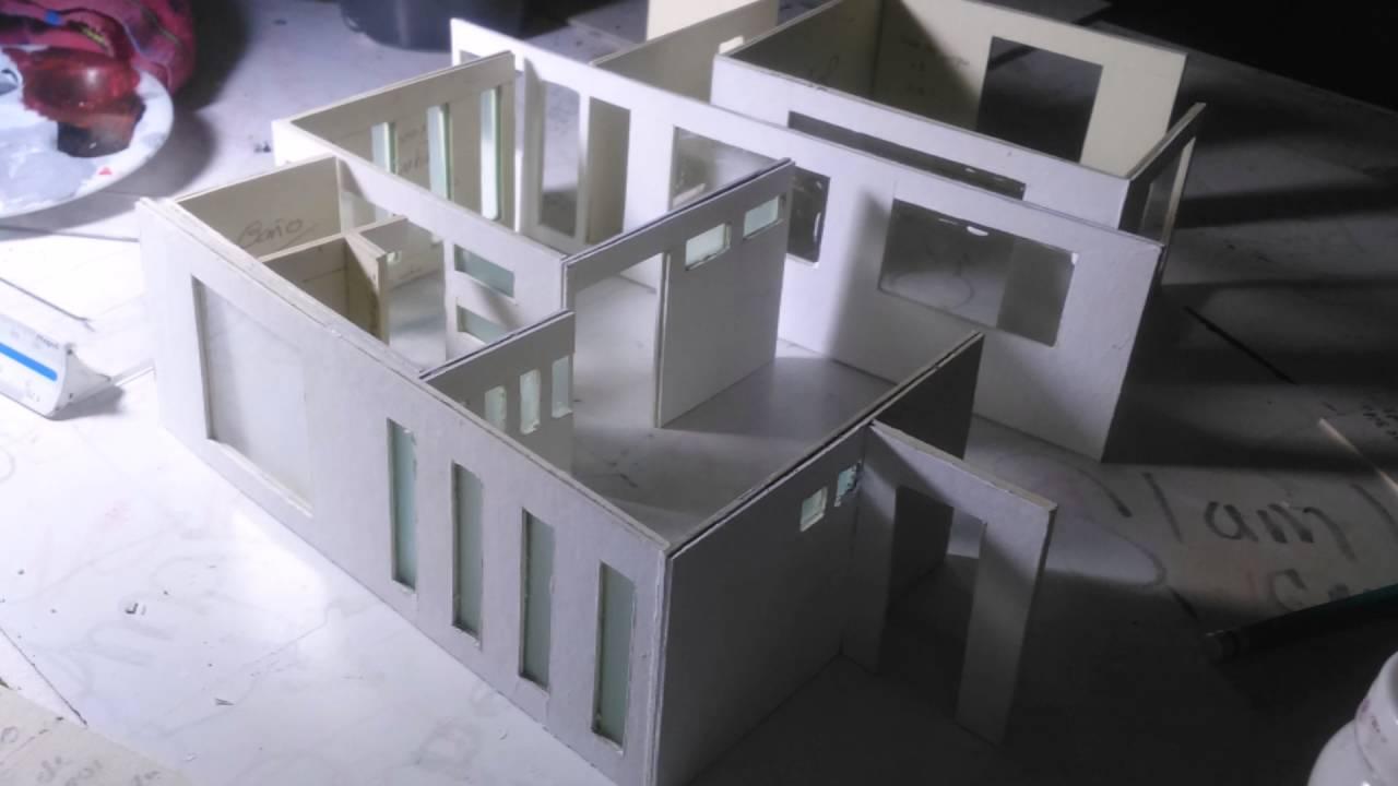 Maqueta casa dos pisos con alberca youtube for Casa para dos con piscina privada